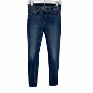 7 for all Mankind the Skinny Denim Jeans Size 27